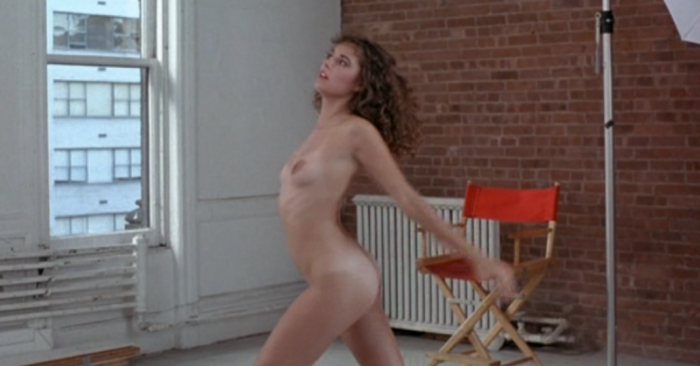 1980s woman doing nude yoga in Breeders