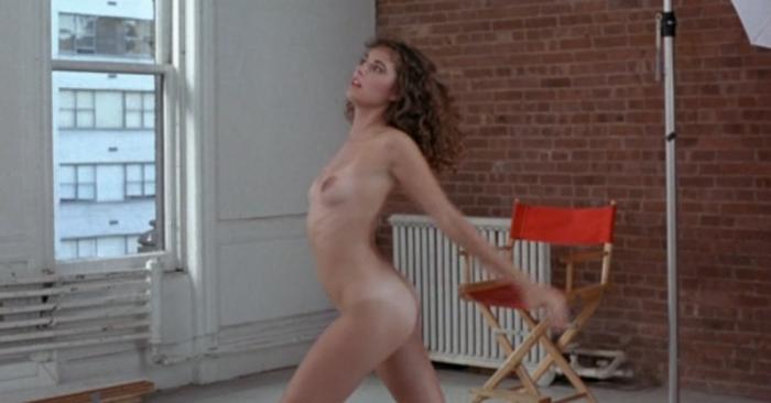 1980s woman doing nude yoga in Breeders