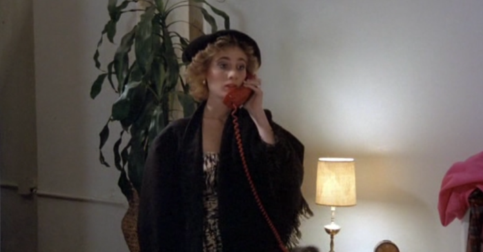 Woman on the phone 1980s