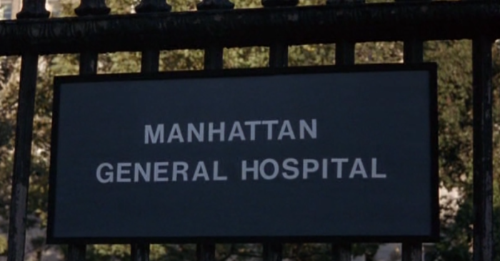 Manhattan Hospital sign in Breeders