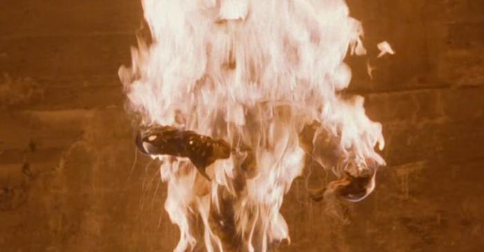 Alien set on fire in Breeders