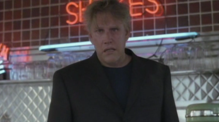 Gary Busey making sad face in Gingerdead Man