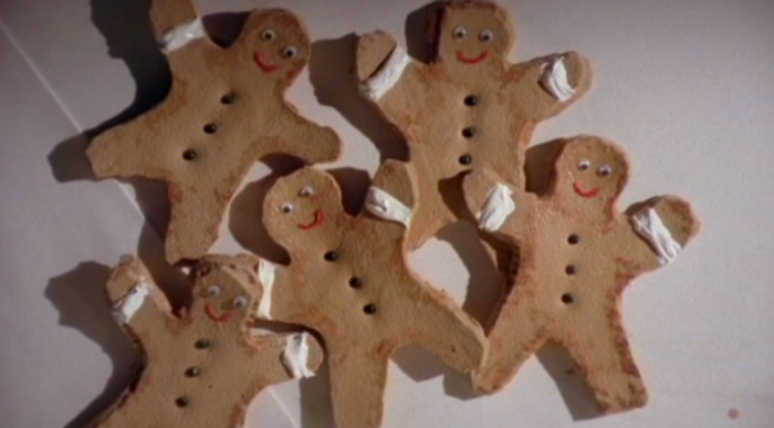 5 possessed gingerbread men in a box