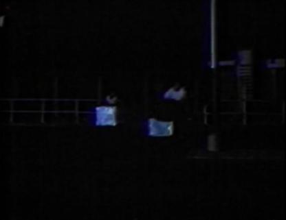 chinese guys pushing bins