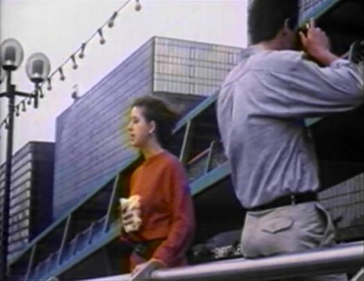 american man and woman in hong kong