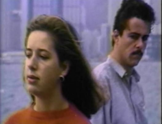 white man and woman talking in hong kong