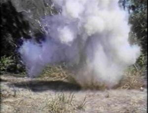 ninja disappearing in smoke cloud