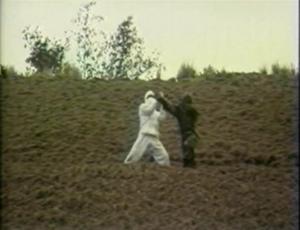 white and camp ninjas fighting