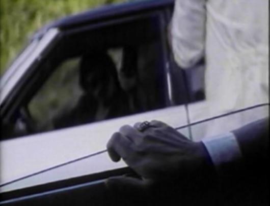 hand on car window