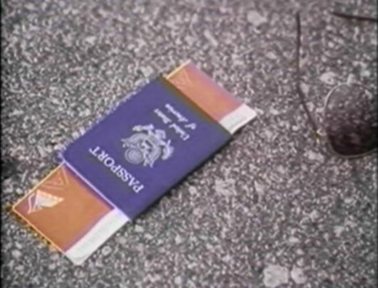 passport lying on road