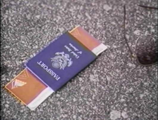 passport lying on road