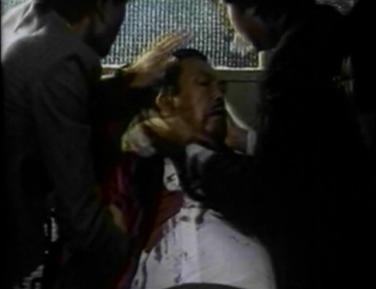 chinese gangster man bleeding