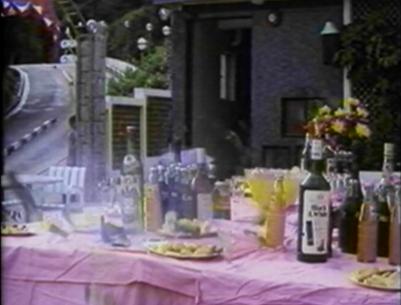 wine bottles shot at party