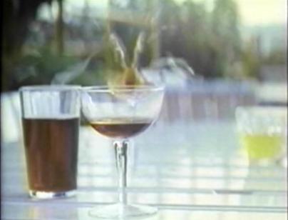 wine glass being shot
