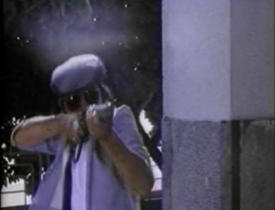 chinese man shooting shotgun