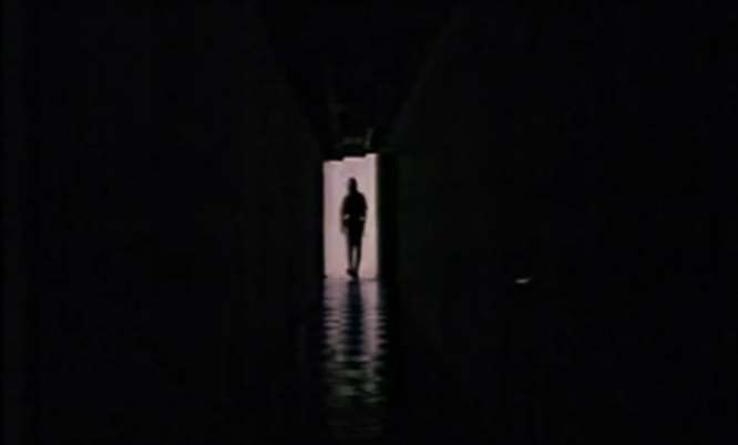 Dark hallway with ninja at end