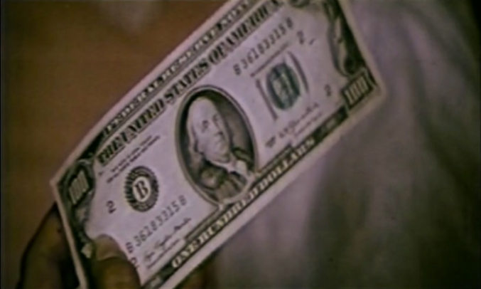 $100 dollar bill in Ninja the Protector