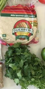 tortillas and cilantro