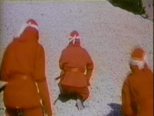 kneeling red ninjas