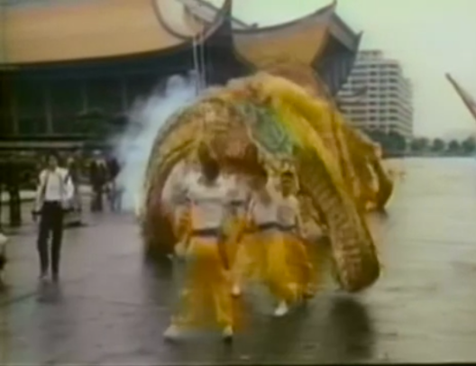 Chinese dragon in parade