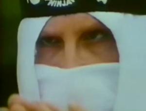 white ninja with headband