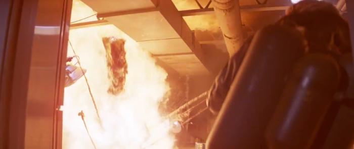 Norris Thing in flames