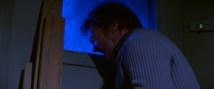 Norris having a heart attack in The Thing