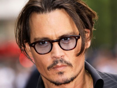 Johnny Depp with glasses