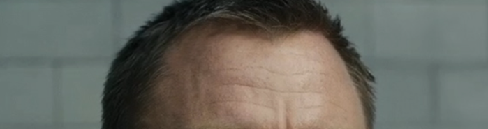 Bond's forehead in Skyfall