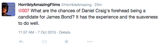 James Bond tweet