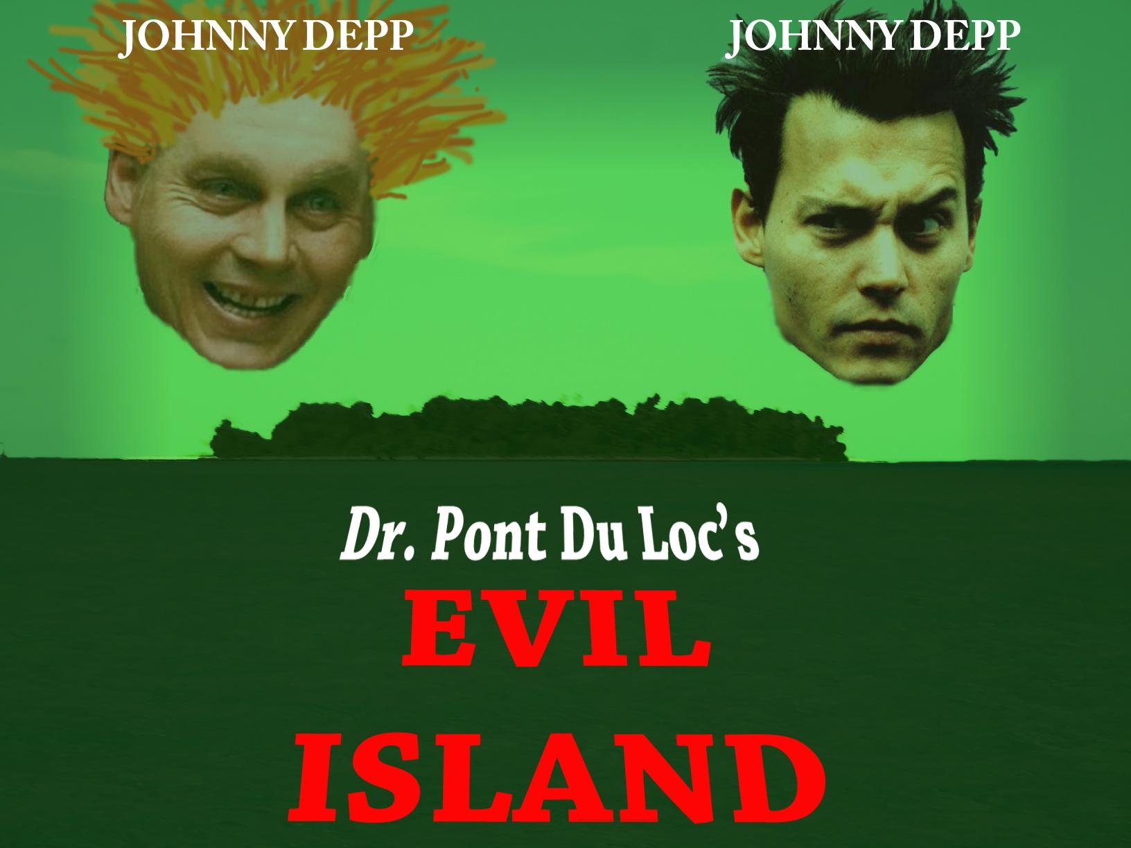 Johnny Depp Dr. Pont Du Loc's Evil Island poster