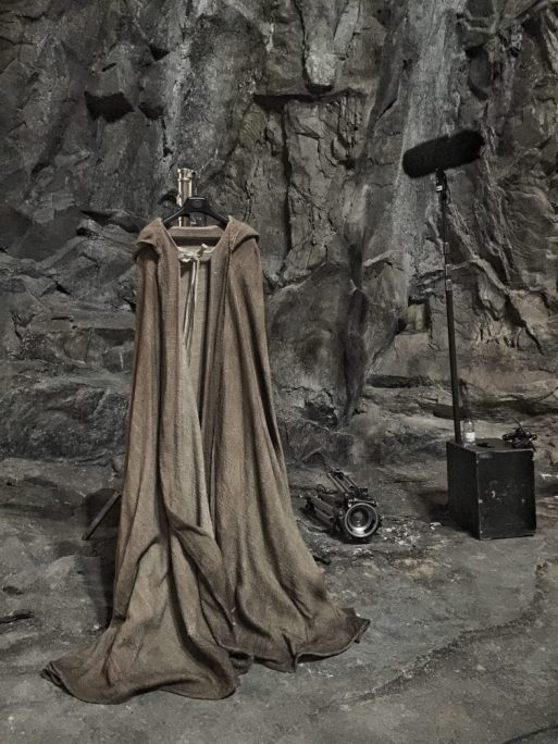 Star Wars Episode VIII robe set photo by Rian Johnson