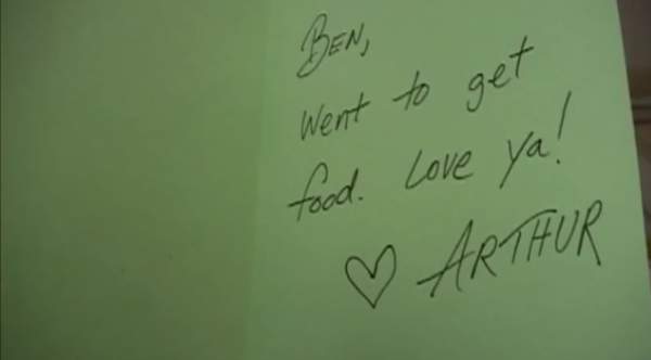 love note in Ben & Arthur