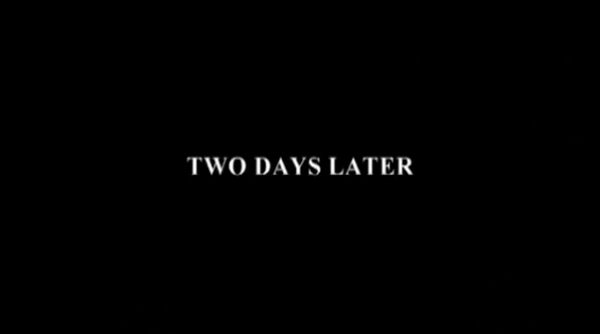 two days later title card